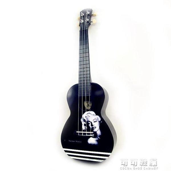 4寸 烏克麗麗 烏克麗麗  黑白 小吉他 AUP-24-41YJT 流行花園