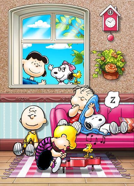 【拼圖總動員 PUZZLE STORY】彈鋼琴 日本進口拼圖/Beverly/史努比 Snoopy/88P/軟木