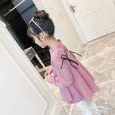 女童襯衫 兒童襯衣女童襯衫春秋裝2019女寶寶長袖韓版上衣中大童娃娃衫 童趣屋