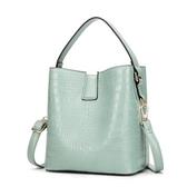 斜背包 包包女包新款2020水桶單肩包時尚潮流pu手提包氣質女士斜跨包定制