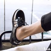 春季圓頭皮鞋男韓版潮流百搭鞋子男學生休閒青少年英倫黑色小皮鞋『快速出貨』