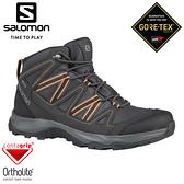 【SALOMON 索羅門 男 LEIGHTON GTX中筒登山鞋《磁灰/幻灰/煤煙核》】409247/防水越野鞋/戶外健行鞋