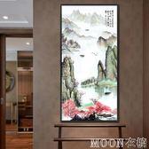 卓畫玄關裝飾畫客廳壁畫餐廳掛畫沙發背景墻豎版簡約單幅過道走廊YYJ   MOON衣櫥