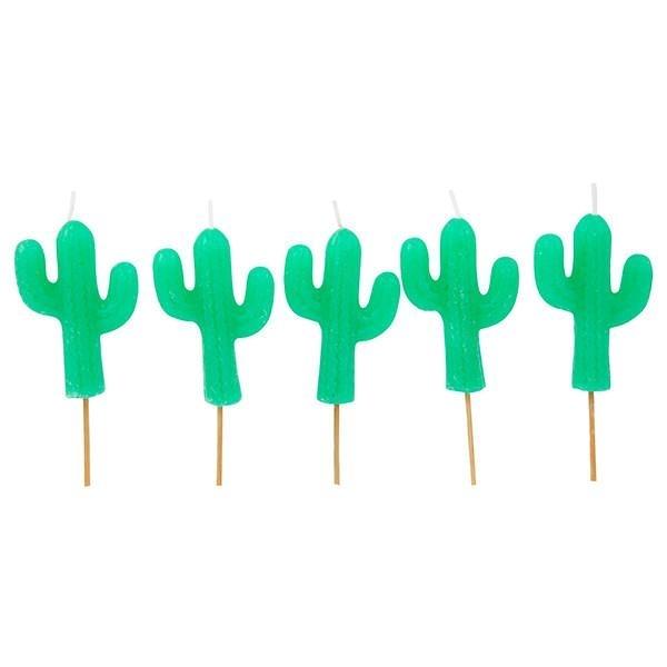 SUNNYLIFE Cactus Cake Candles 仙人掌蛋糕蠟燭組 (共5入)