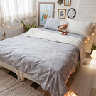 黑色碎石 S3單人床包與雙人新式兩用被四件組  100%精梳棉  台灣製 棉床本舖