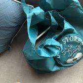 購物袋 出口單 日本 高品質 雙層雙面 折疊購物袋環保便攜單肩背包手提袋