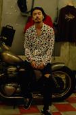 【GOZER Taiwan】COLOR LEOPARD SHIRT 字母豹紋長袖襯衫 (白色) 現貨