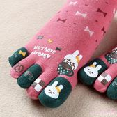 五指襪 秋冬保暖女款女日系棉質卡通中筒可愛腳趾分開襪子溫暖透氣 DR2358 【Rose中大尺碼】