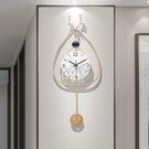 快速出貨輕奢家用裝飾掛鐘創意鐘錶大氣時尚墻上靜音時鐘客廳掛墻藝術 YJT