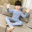 兒童秋衣秋褲莫代爾薄款春秋季純棉男寶寶睡衣中大童男童內衣套裝 小山好物