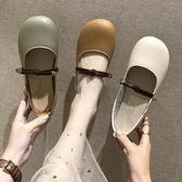 現貨娃娃鞋 女夏季新款韓版百搭學生平底大頭淺口懶人鞋單鞋 - 雙十二交換禮物5-30