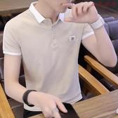 【YPRA】短袖POLO衫男T恤韓版修身上衣