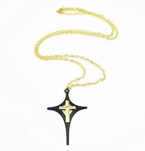 【找到自己】大牌 男 項鍊 復古 暗黑 系列 !! 推薦黑色 聖十字 耶穌 黑 十字架 男潮流穿搭