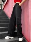 元氣少女 韓國同款大口袋拖地寬鬆闊腿工裝...