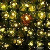燈串 LED荷花燈聖誕節太陽花電池盒燈串防水 院子樹房間DIY裝飾閃燈【美物居家館】