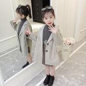 呢大衣兒童女 女童呢子大衣2018新款韓版兒童中長款秋季毛呢小女孩秋裝洋氣外套 珍妮寶貝