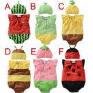 可愛《水果昆蟲款》造型短袖連身衣...