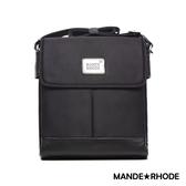 MANDE RHODE - 貝加莫 - 真皮牛津布打折側背包 - 20886C