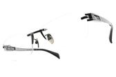 JAPONISM光學眼鏡 JP031 C02 (槍黑) 科技無邊框紳士款 平光鏡框 # 金橘眼鏡
