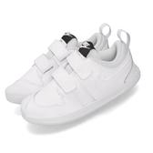 Nike 休閒鞋 Pico 5 白 灰 童鞋 小童鞋 運動鞋 魔鬼氈 【PUMP306】 AR4162-100