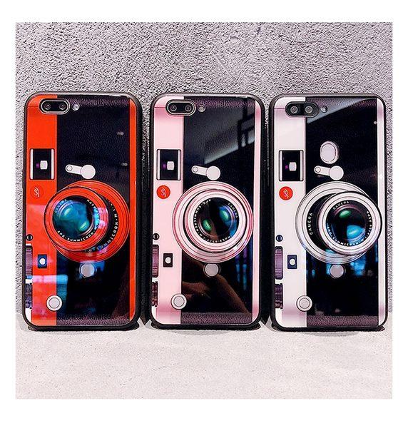 網紅照相機 OPPO R15 手機殼 創意 3D相機氣囊支架 保護套 全包 防摔 軟殼