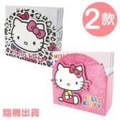 〔小禮堂〕Hello Kitty 方形便條紙《2款.隨機出貨.粉/側坐.紅吊帶褲.白/豹紋大臉》 4713791-96788