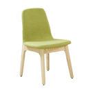 【森可家居】葛麗絲栓木綠色布餐椅 7JF483-10