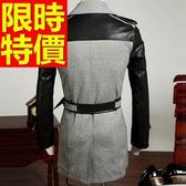 風衣外套-防風設計嚴選長版男大衣1色59r11【巴黎精品】