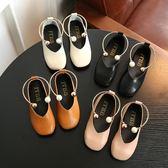 公主鞋 2018秋季新款復古公主鞋女童皮鞋兒童休閒單鞋豆豆鞋中大童學生鞋