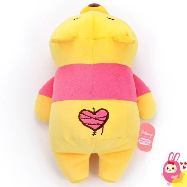 Hamee 日本 迪士尼 Mocchi Mocchi 愛的抱抱 療癒娃娃 玩偶 趴趴造型 抱枕 (小熊維尼/M) TA21283