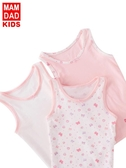 女童背心夏純棉內穿兒童寶寶吊帶背心薄嬰兒護肚小背心小女孩內衣