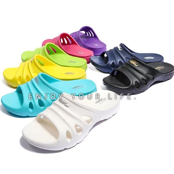 男女款 母子鱷魚 羽感軟Q透氣排水 足弓支撐 超輕量EVA 厚底拖鞋 海灘拖鞋 氣墊拖鞋 MIT製造 59鞋廊