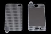USAMS 3D 雷射Laser 高耐磨 手機螢幕保護貼膜 Apple iPhone 4S 線條 (二片裝)