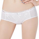 思薇爾-都繪感系列M-XL蕾絲刺繡低腰平口內褲(奶油色)