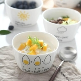 兒童碗筷可愛兒童陶瓷碗創意寶寶嬰兒家用卡通碗筷學生個性吃飯餐具套裝 夏季新品