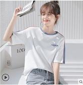 短袖T恤 白色t恤女短袖2021年新款韓版設計感ins半袖上衣夏季寬鬆純棉體恤 伊蘿