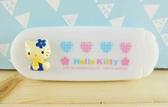 【震撼  】Hello Kitty 凱蒂貓KITTY 衣刷附鏡白愛心