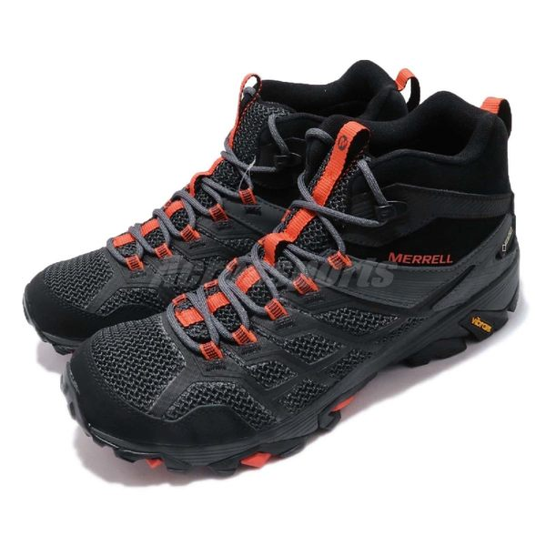 Merrell 戶外鞋 Moab FST 2 Mid GTX 黑 灰 Gore-Tex 健走 登山鞋 男鞋【PUMP306】 ML77485
