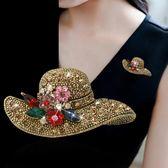 日韓國時尚帽子胸針創意可愛大氣開衫外套絲巾別針扣胸花配飾品女