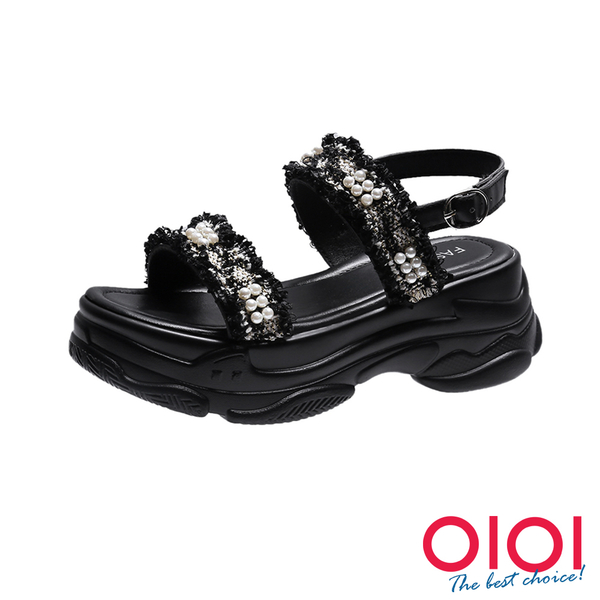涼鞋 甜酷女孩顯瘦老爹涼鞋(黑)*0101shoes【18-K523bk】【現+預】