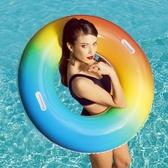 百適樂游泳圈大人充氣戲水嬰幼兒浮圈加厚成人救生甜甜圈 麻吉好貨