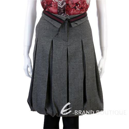 ZINCO 灰色百摺毛質及膝花苞裙 0640224-06