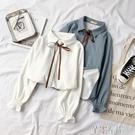 長袖襯衫 襯衫秋季女韓版學生小眾上衣加絨設計感長袖保暖冬襯衣潮 芊墨