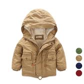 男童刷毛加厚連帽 風衣 大衣 厚 外套  兒童 童裝 夾克 橘魔法Baby magic 現貨 過年
