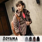 軍裝外套【A88027】韓系多口袋立領連帽造型保暖厚棉軍裝外套/情侶款