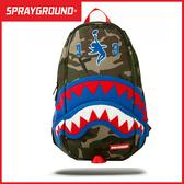 Sprayground 後背包  MARVEL漫威 貝克漢姆 鯊魚嘴潮流電腦背包  B5930016C MyBag得意時袋