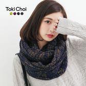 東京著衣-混色粗毛線保暖鉤織圍脖(4030255)