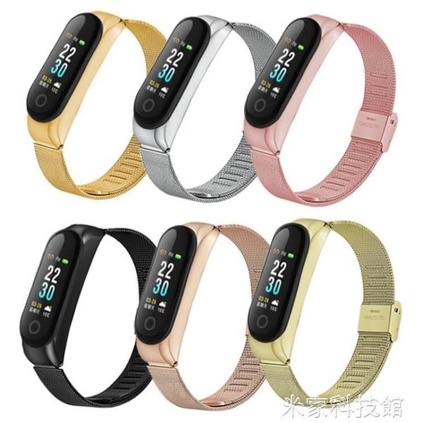 小米手環4金屬腕帶 小米4nfc個性2代替換錶帶小米手環3定制款 米家
