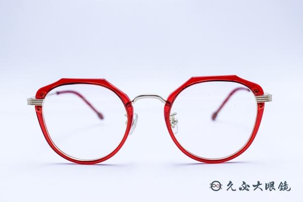 Kaffeine 咖啡因 Martini1 C2 (紅/銀) 韓國設計 流行框型 近視眼鏡