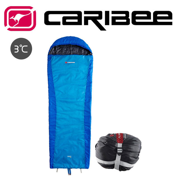 澳洲 Caribee PLASMA EXTREME(+3°C)纖維睡袋 藍 CB-5422 露營│旅遊│登山│自助旅行 渡假打工
